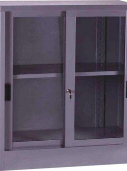 Lemari Kantor VIP Sliding Kaca 1/2 Tinggi V 601