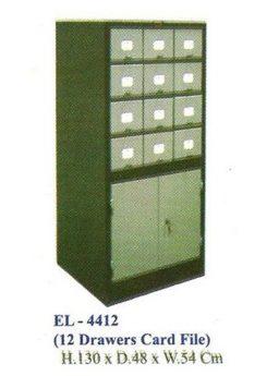 Lemari Arsip Kantor ELITE EL-4412 (Card File)