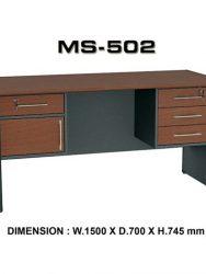 """Meja Kantor VIP MS 502"""
