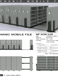 """""""Mobile File Alba Mekanik MF AUM 3-05 B"""""""