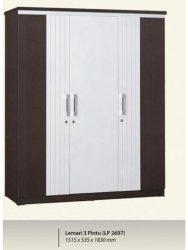 Lemari Pakaian 3 Pintu Graver LP 2697